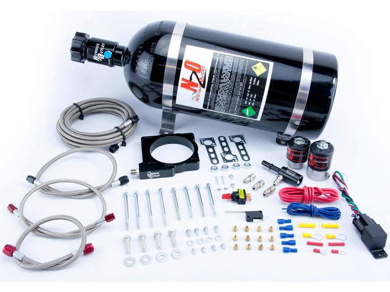 Dodge 6.4L Charger/Challenger/Magnum/300C Nitrous Outlet 85mm Nitrous Plate System - 15lb Bottle