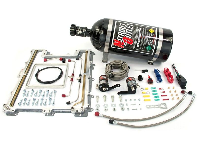 2012+ Camaro ZL1 LSA Supercharger Nitrous Outlet Plate System - 10lb Bottle