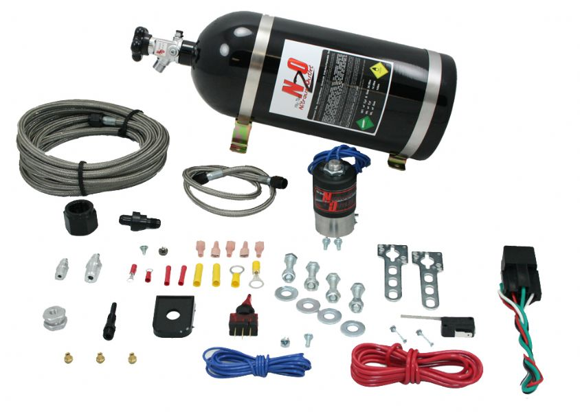 Nitrous Outlet Universal Single Nozzle Dry Kit (10lb Bottle)