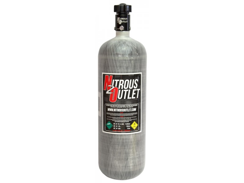 Nitrous Outlet Carbon Fiber Bottle w/High Flow Valve - 12lb