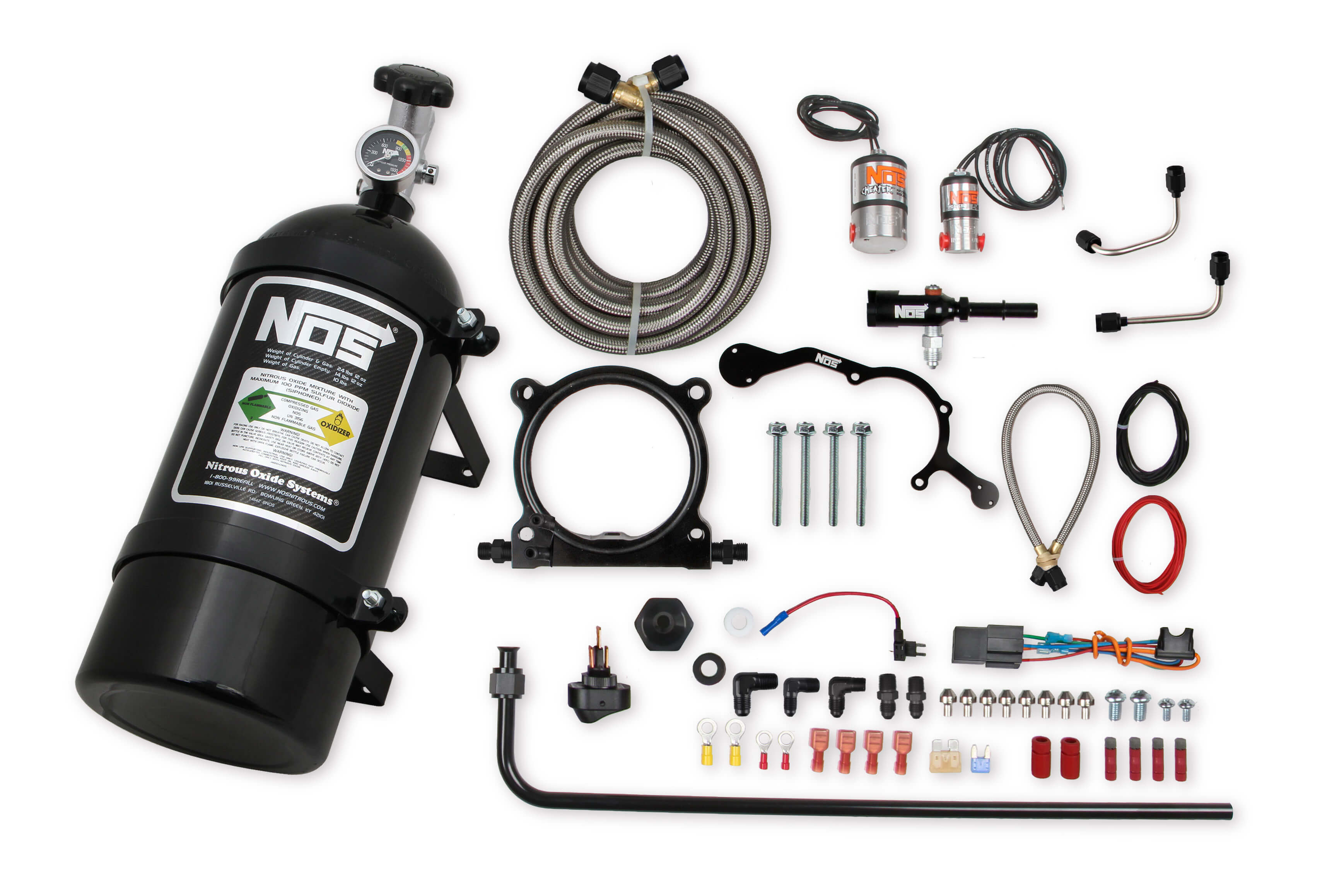 2015-2017 Ford Mustang 5.0L V8 NOS Complete Wet Nitrous Kit w/10lb Black Bottle