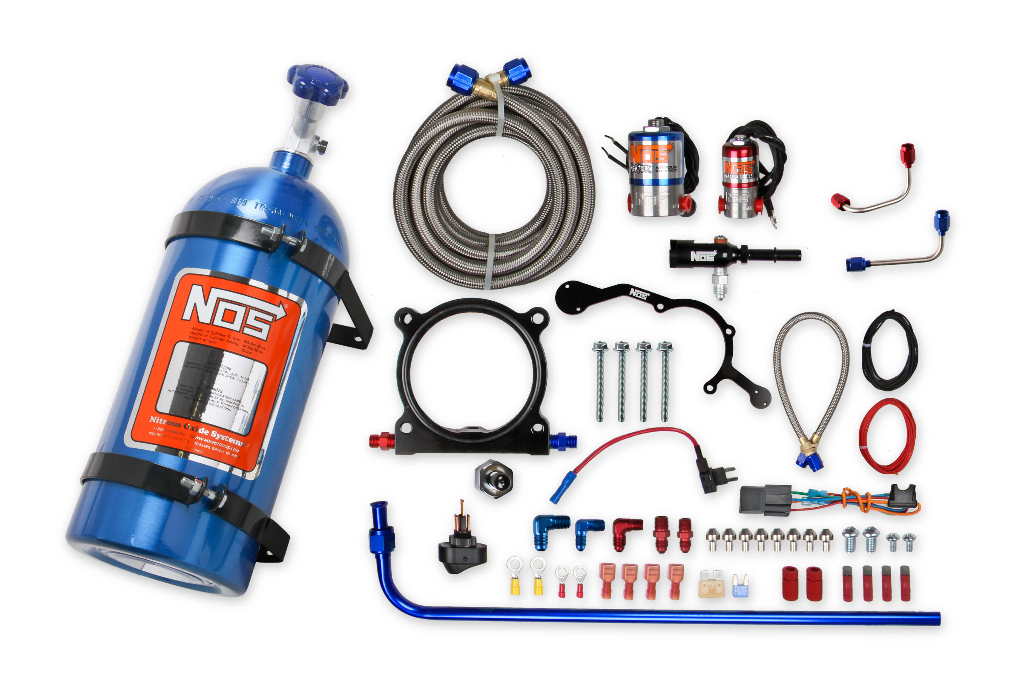 2015-2017 Ford Mustang 5.0L V8 NOS Complete Wet Nitrous Kit w/10lb Blue Bottle