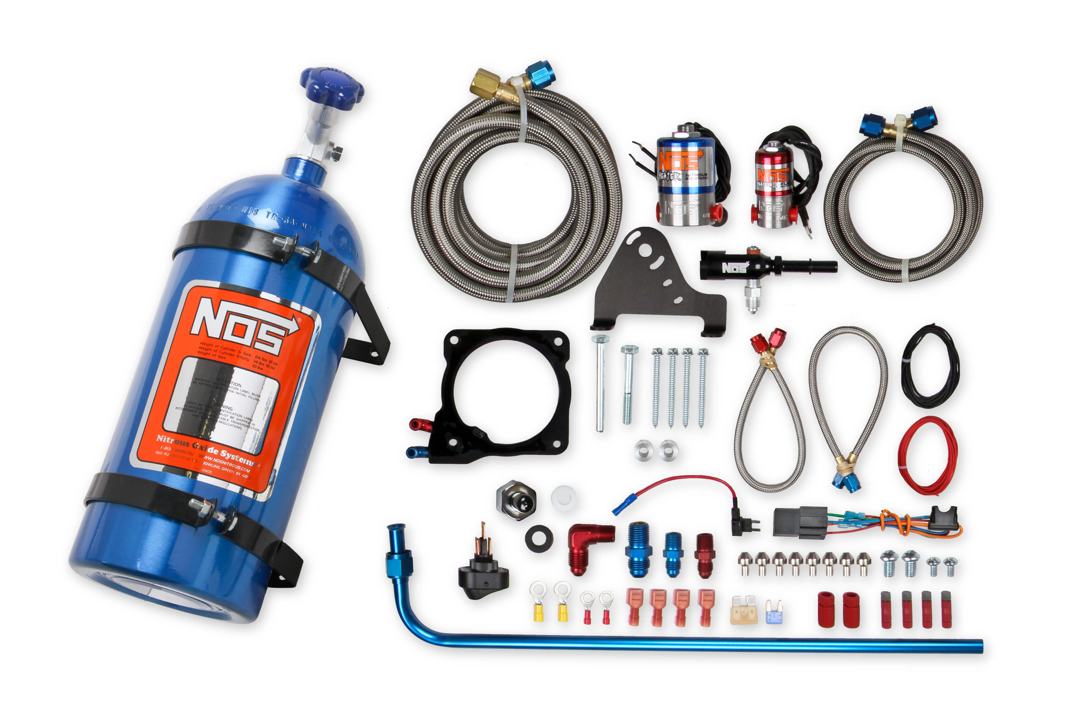 2011+ Dodge Challenger/Charger/300C 6.4L V8 NOS Complete Wet Nitrous Kit - w/10lb Blue Bottle