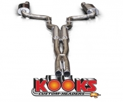 "2008+ Dodge Challenger SRT8 Kooks 3"" Exhaust System w/Xpipe & Mufflers - Use with 3"" x 2 3/4"" Connection Pipes"