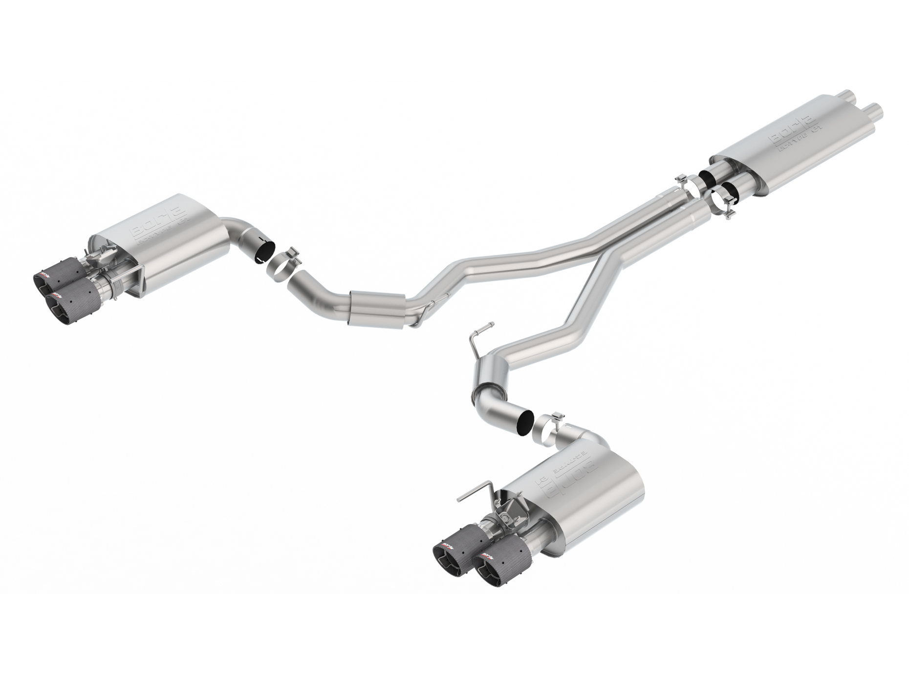 2018-2020 Ford Mustang GT Borla ECE Approved Cat-Back Exhaust System w/Active Valves