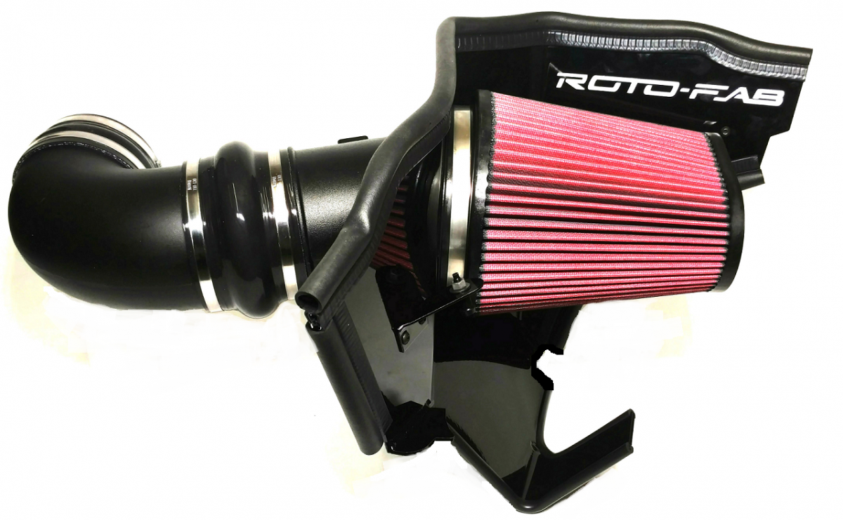 2016+ Camaro SS Rotofab Cold Air Intake - w/Oil Filter - For Magnuson & Whipple Superchargers