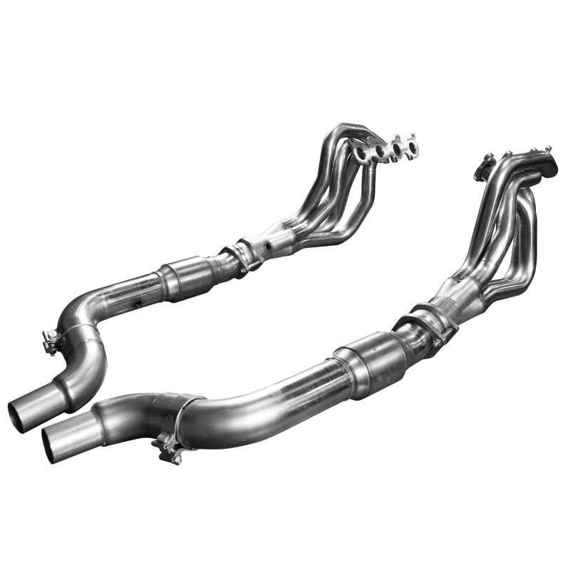 "2015+ Ford Mustang GT 5.0L V8 Kooks 2"" x 3"" Stainless Steel Long Tube Header w/ GREEN Catted Connection Pipes"