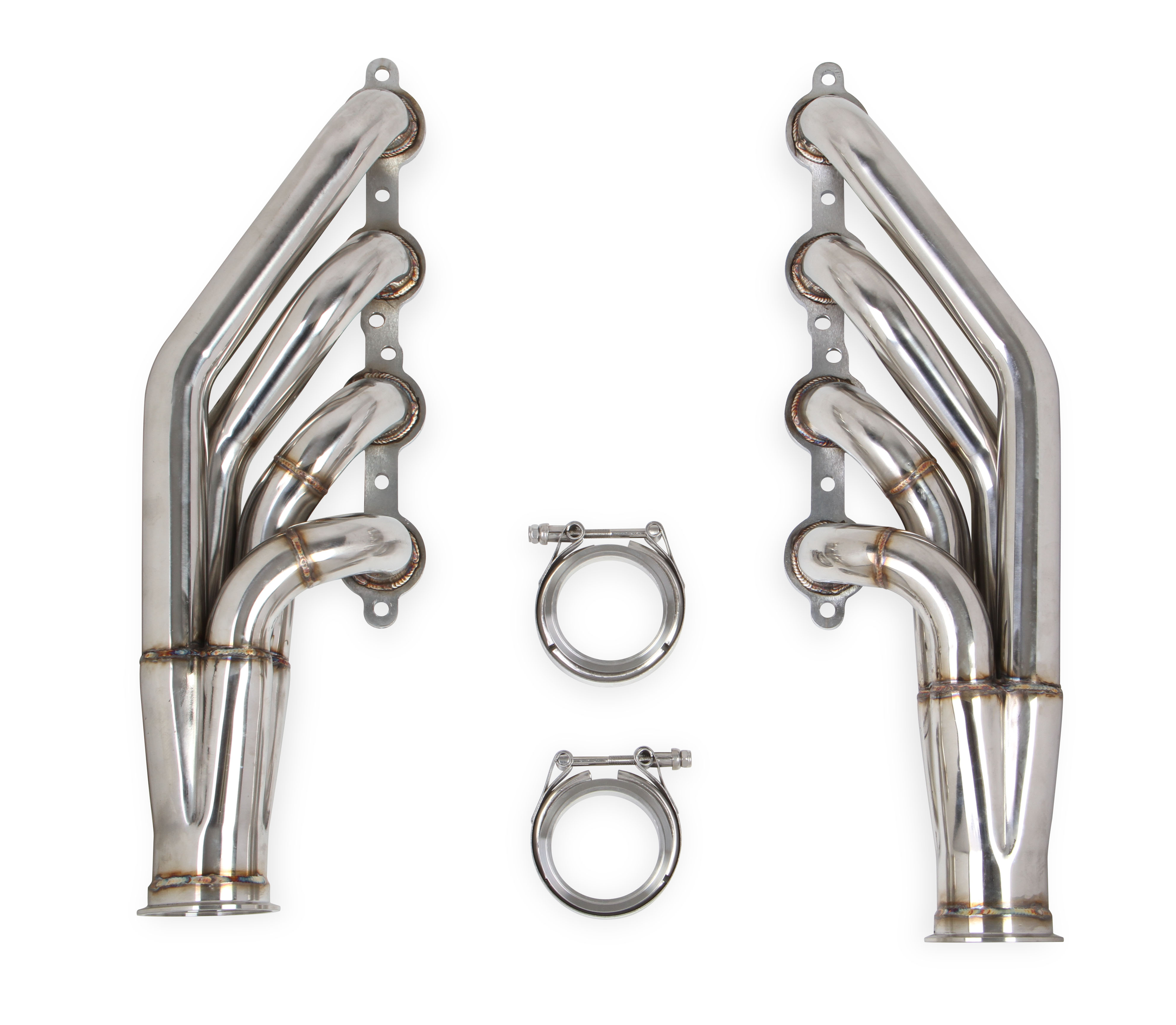 "Flowtech LS 4.8L/5.3L/6.0L V8 1 7/8"" 409 Stainless Turbo Headers - Natural Finish"