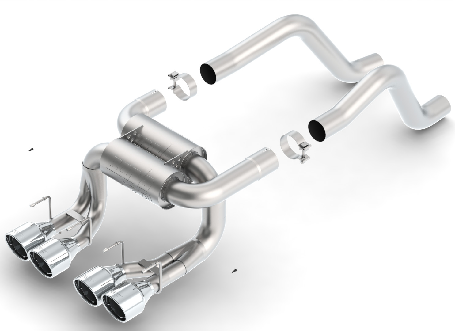 "2006+ C6 Corvette ZO6/ZR1 Borla ""ATAK"" Stainless Steel Cat-Back Exhaust (Rear Section)"