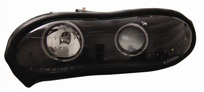98-02 Camaro Anzo Halo Front Head Lights w/Clear Lens - Black Housing & Amber Reflectors