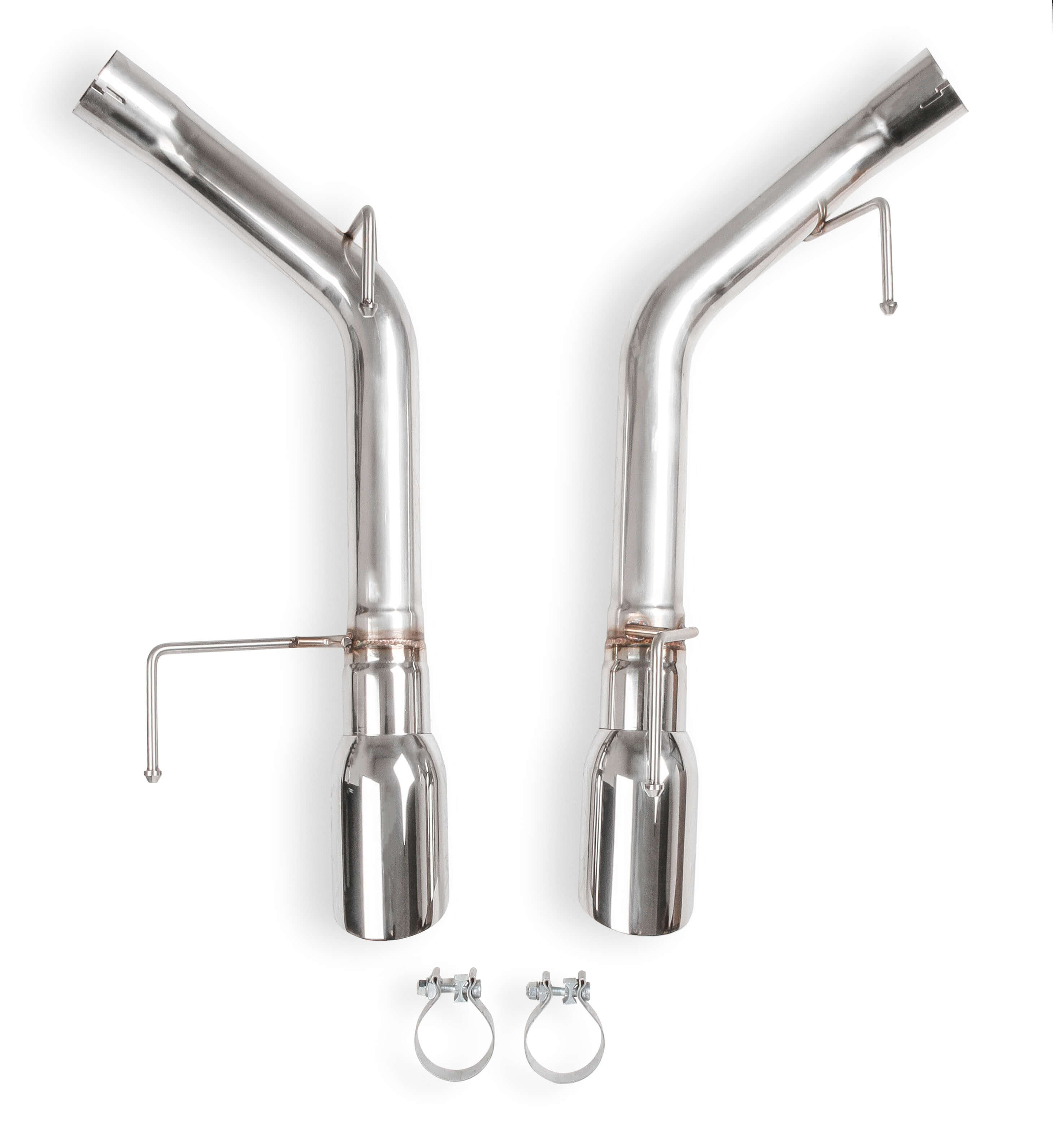 "2005-2010 Ford Mustang GT 5.0L V8 Flowtech 2.5"" Stainless Non Muffled Axle Back Exhaust System"