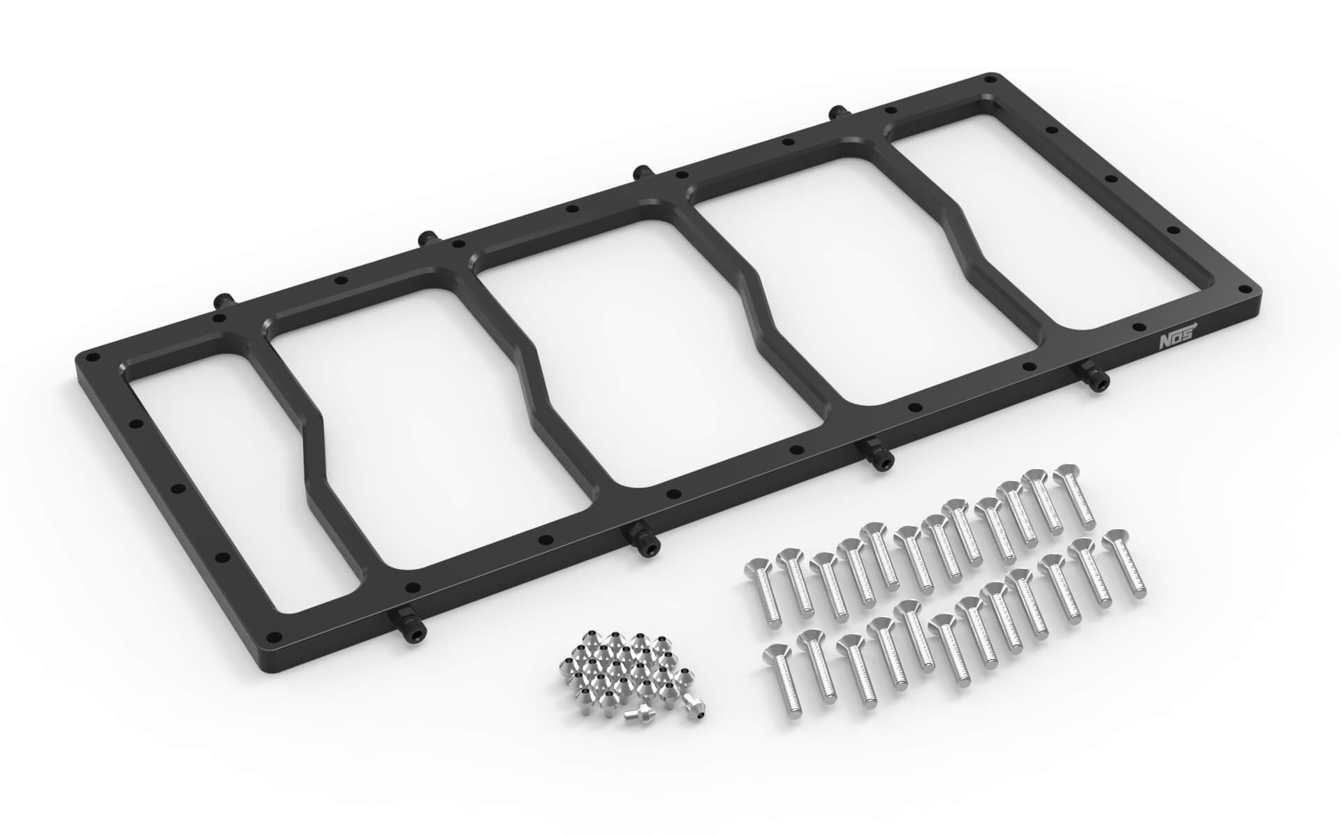 NOS Dry Nitrous Plate for Sniper EFI Fabricated Race Series LS Intake Manifolds-Black