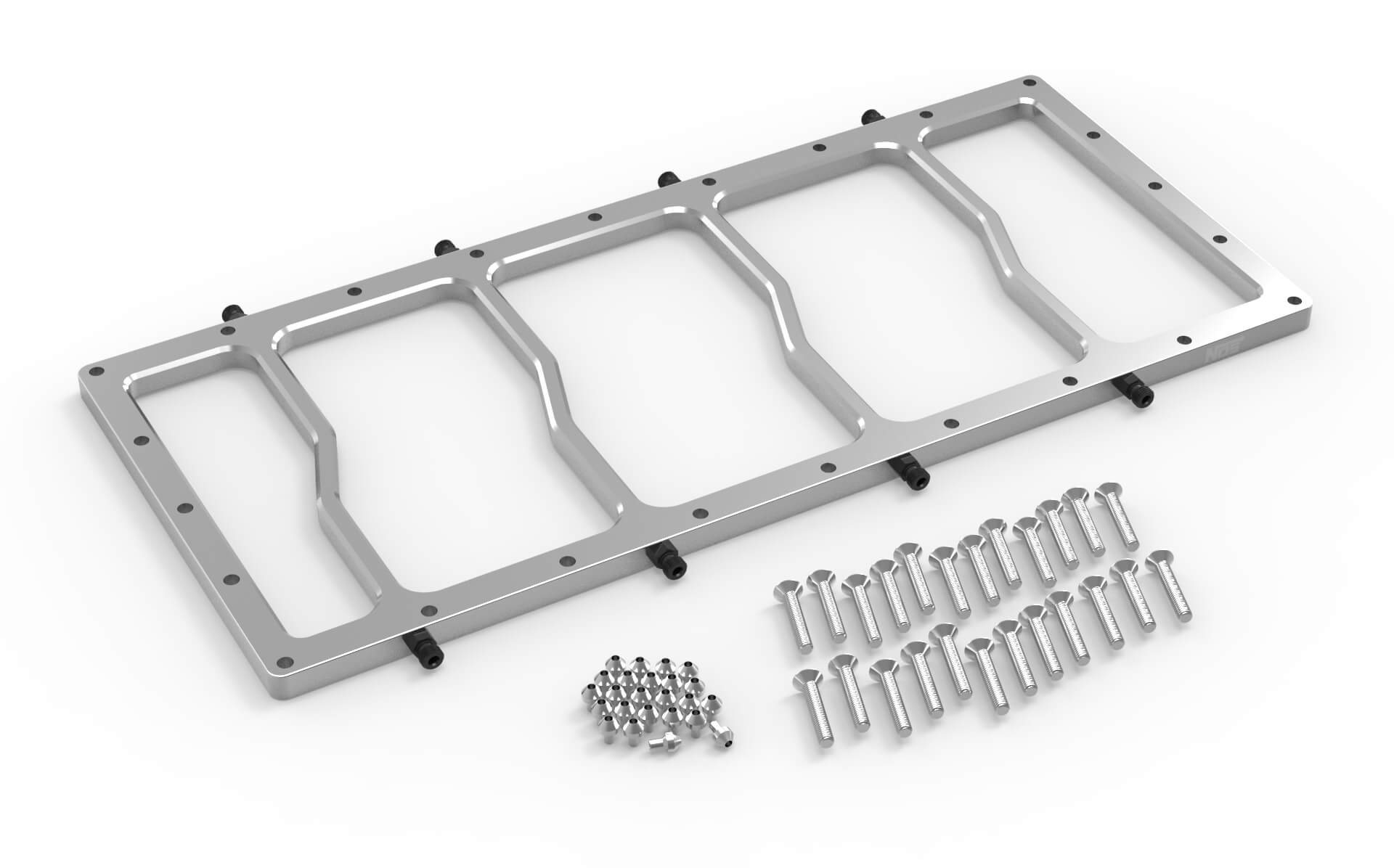 NOS Dry Nitrous Plate for Sniper EFI Fabricated Race Series LS Intake Manifolds-Silver