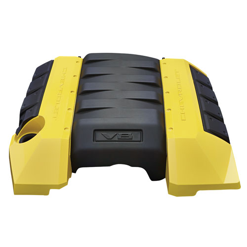 2010+ Camaro V8 GM Performance Parts Engine Cover - Bright Yellow