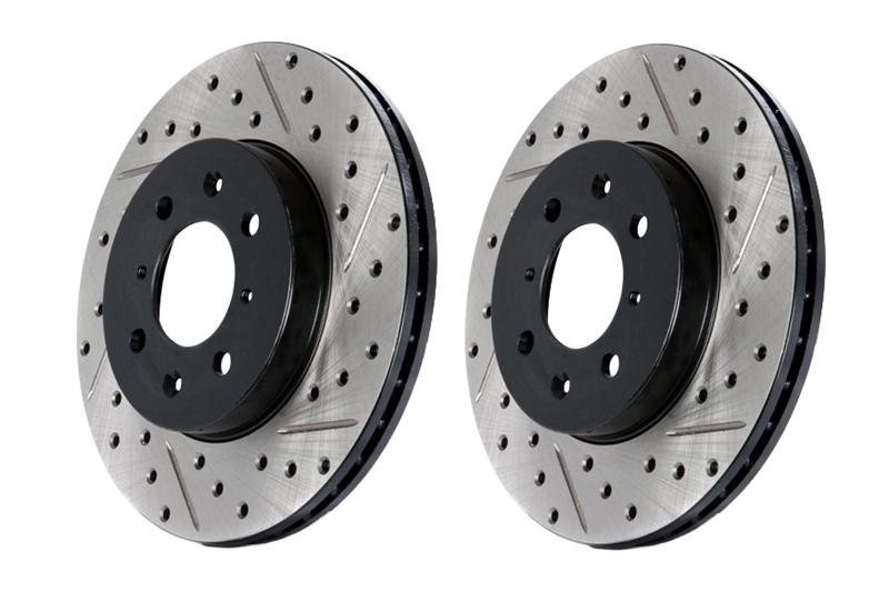 93-97 LT1 Fbody Stoptech Drilled & Slotted Brake Rotor - Rear Right