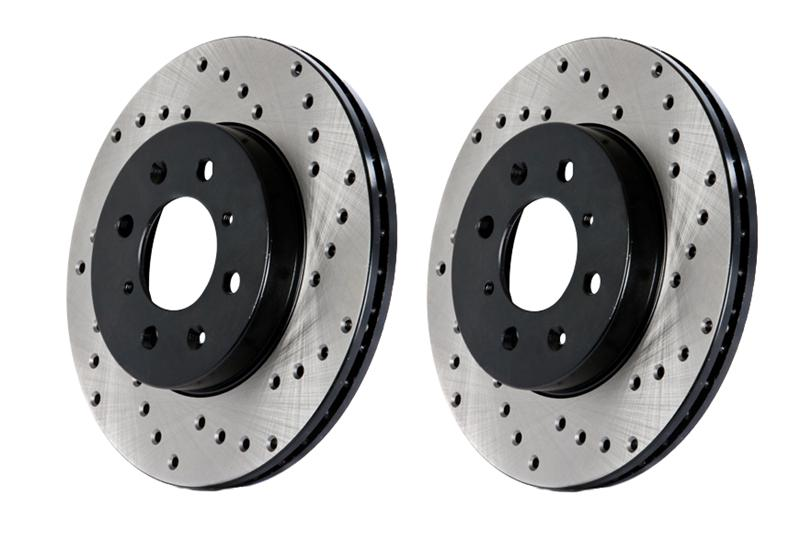 98-02 LS1 Fbody Stoptech Cross Drilled Brake Rotor - Front Left