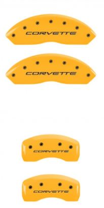 1997-2004 C5 Corvette Yellow MGP Caliper Covers