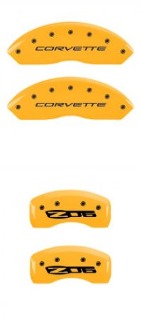 1997-2004 C5 Corvette Yellow Corvette/ZO6 MGP Caliper Covers