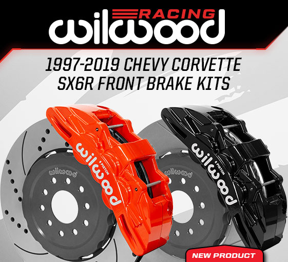 "2005-2013 C6 Corvette Wilwood SX6R Front 14"" GT Brake Kit w/Slotted Rotors - Black"