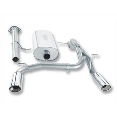 2008 Hummer H2 Borla Stainless Exhaust System with Polished Tips
