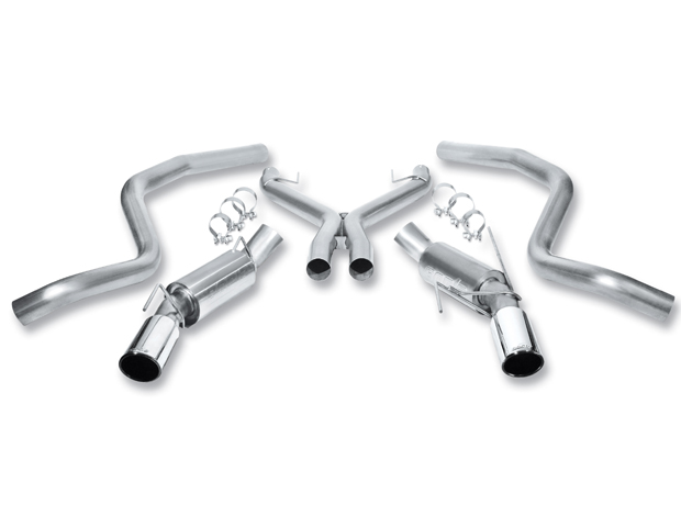 2005-2009 Ford Mustang V8 Borla Stainless Steel Exhaust System w/X-Pipe - Turbo Mufflers