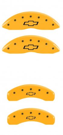 2010-2015 Camaro Yellow Bowtie MGP Caliper Covers