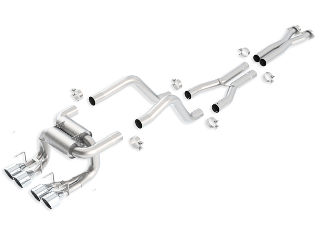 "2006+ C6 Corvette ZO6/ZR1 Borla ""ATAK"" Stainless Steel Cat-Back Complete Exhaust System"