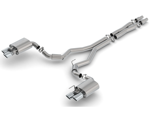 "2018+ Ford Mustang GT 5.0L Borla 3"" S-Type Catback Exhaust System w/Valves"