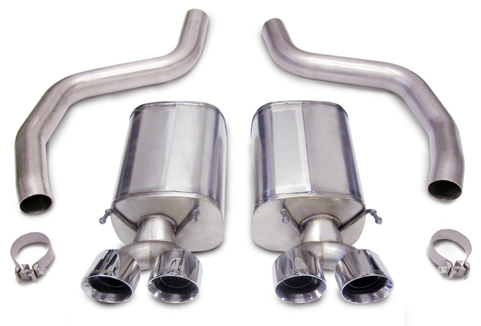 2006+ Corvette C6 ZO6/ZR1 Corsa Performance Pro Series Stainless Steel Catback Exhaust (4-Tip)