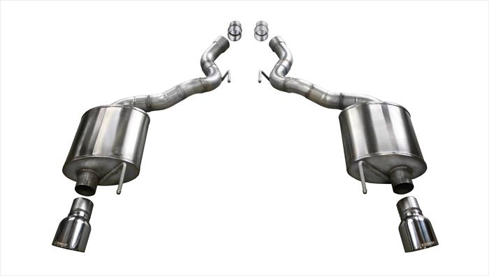 2015+ Ford Mustang GT 5.0L V8 Corsa Touring Axle Back Exhaust System - Polished Tips - Convertible Models