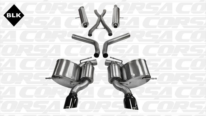 2012+ Jeep SRT8 Corsa Performance Catback Exhaust System - Black Tips