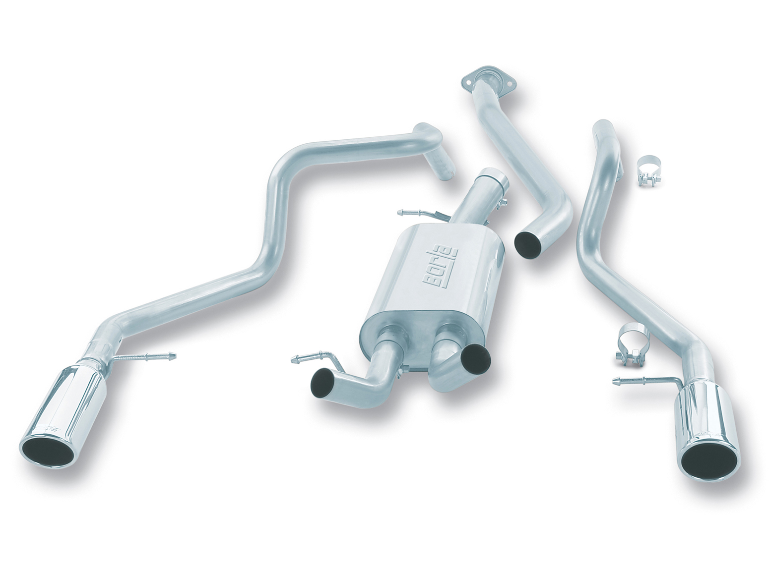 1999-2007 Chevy/GMC 1500 Borla Touring Catback Exhaust System w/Rear Side Single Tip - Ext. Cab/Short Box