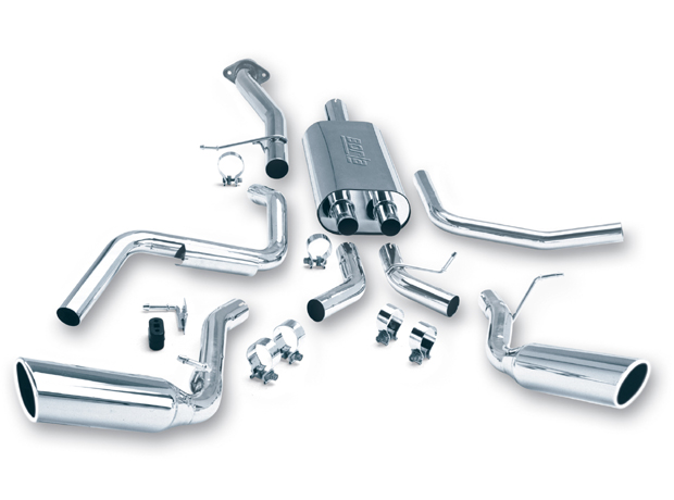 1999-2007 Chevy/GMC 1500 Borla Touring Catback Exhaust System w/Rear Side Exit Tip - Reg. Cab/Short Box