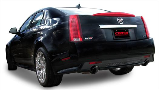 "09-13 Cadillac CTS-V Sedan Corsa Sport 2.5"" Axleback Exhaust System w/Dual 4"" Polished Diamond Black Pro-Series nd Tips"