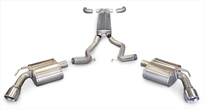 2010+ Camaro Convertible SS 6.2L V8 Corsa Performance Sport Exhaust System (Use with Automatic Transmission)