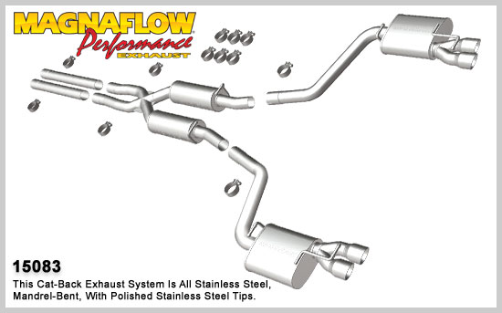 2011+ Dodge Charger RT 5.7L V8 Magnaflow Street Series Exhaust Catback Exhaust System w/Tips