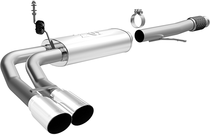 "2014-2018 Chevy/GMC 1500 Magnaflow 3"" Catback Exhaust System w/Side Exit Before Passenger Tire - Dual Polished Tips - CC/EC Std."