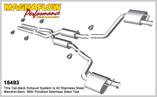 2011+ Dodge Charger RT 5.7L V8 Magnaflow Street Series Exhaust Catback Exhaust System (Without Tips)