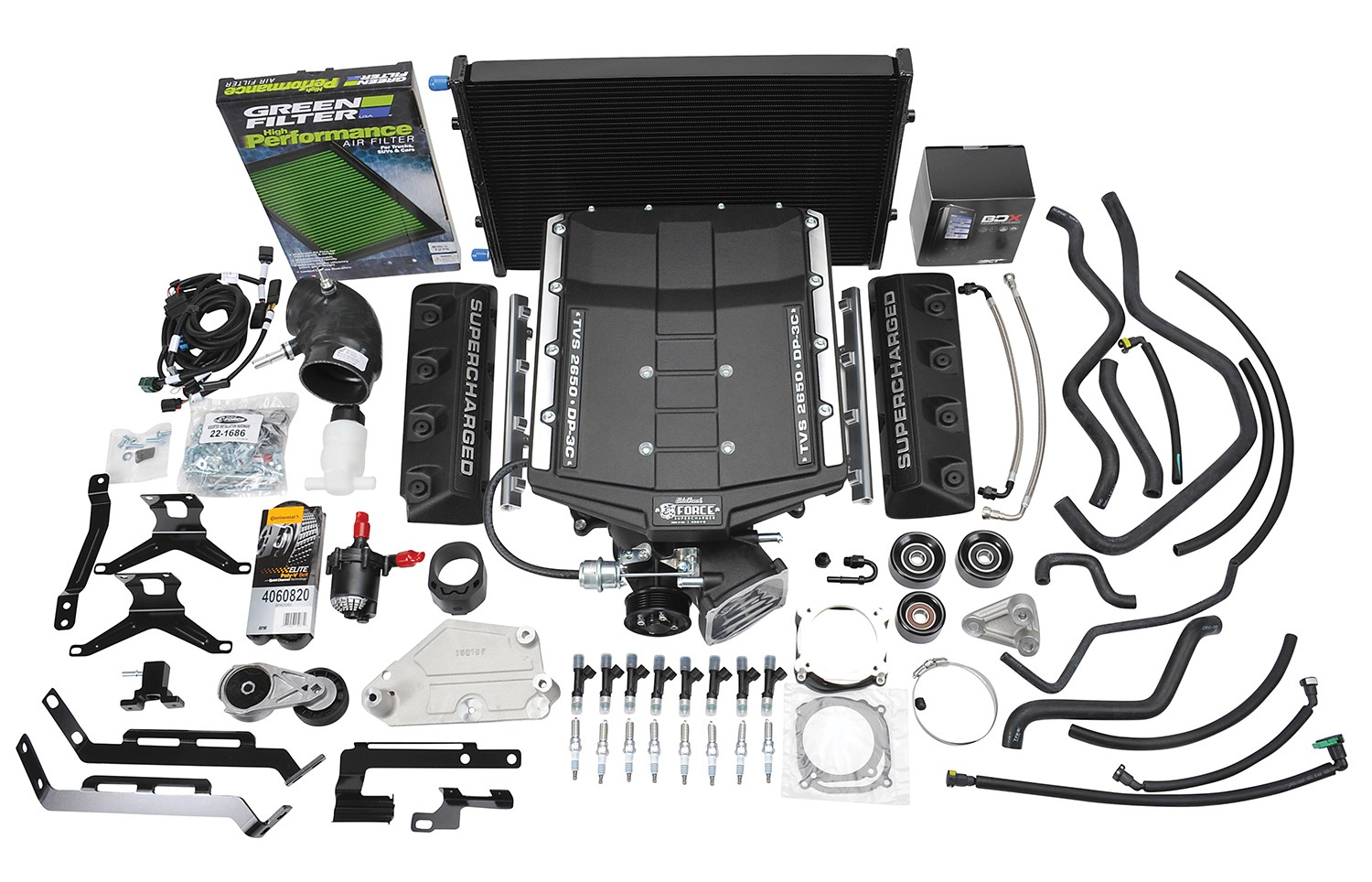 2015-2017 Ford Mustang GT 5.0L V8 Edelbrock Stage 1 E-Force Supercharger Kit w/Tuner