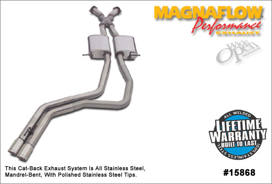 2004 GTO Magnaflow Performance Catback System