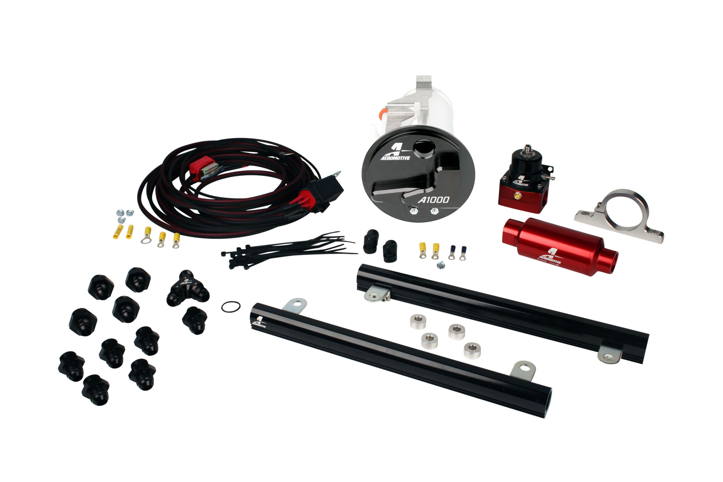 2005-2009 Ford Mustang GT Aeromotive Stealth A1000 Race Fuel System w/5.4L 4-V Fuel Rails Coyote Swap