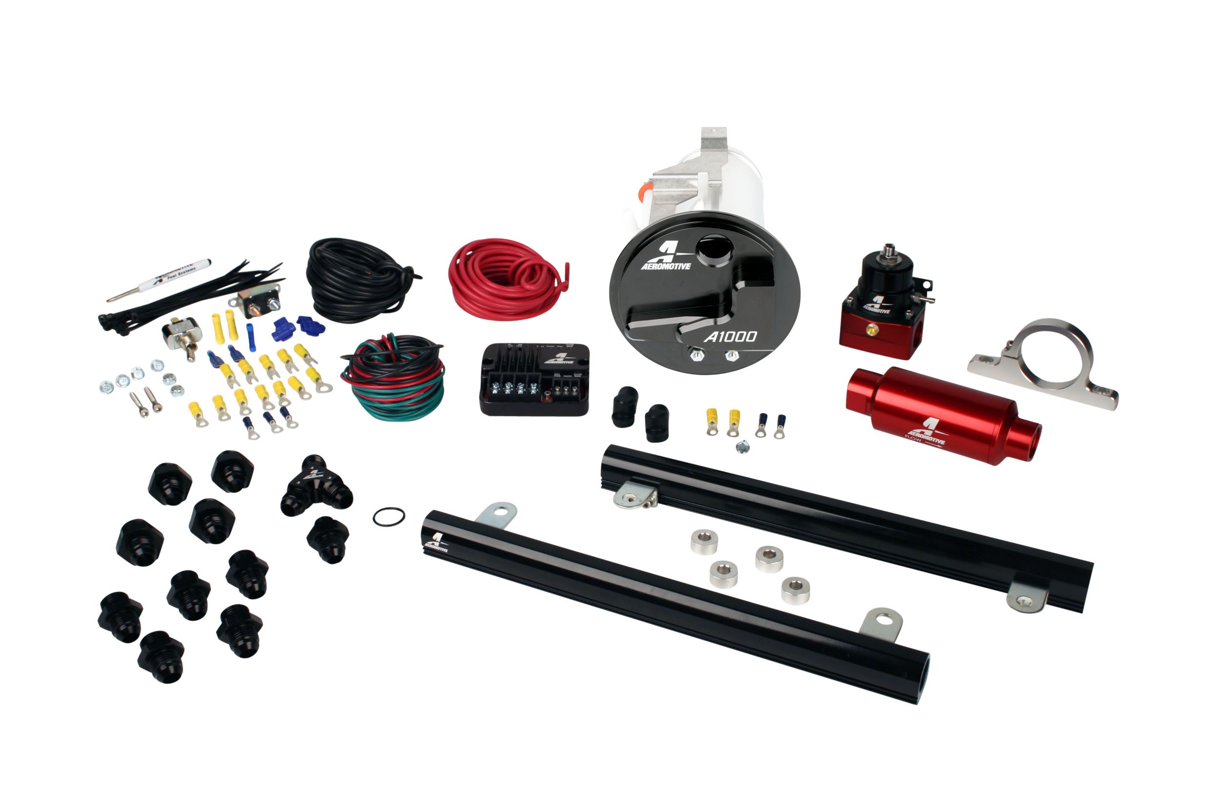 2005-2009 Ford Mustang GT Aeromotive Stealth A1000 Street Fuel System w/5.4L 4-V Fuel Rails Coyote Swap
