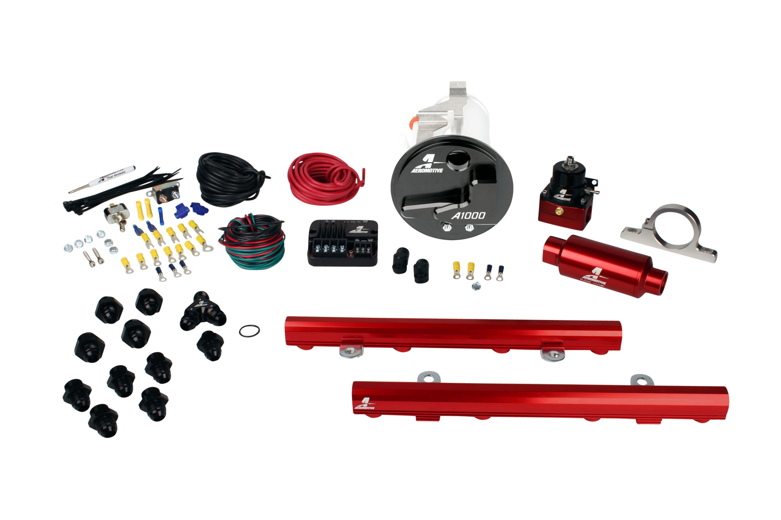 2005-2009 Ford Mustang GT Aeromotive Stealth A1000 Street Fuel System w/5.0L 4-V Fuel Rails Coyote Swap