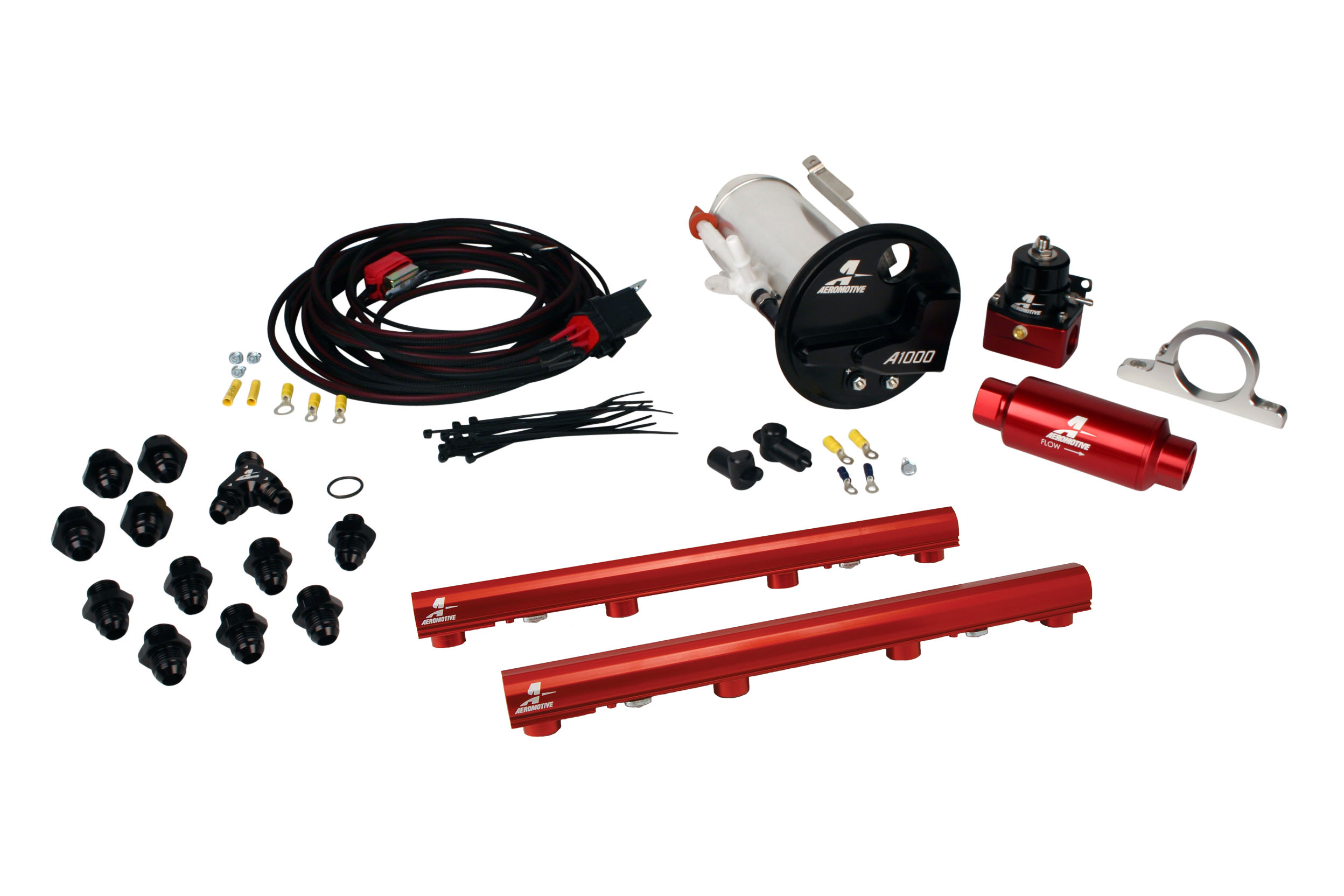 2007-2012 Ford Mustang Shelby GT500 Aeromotive Stealth A1000 Race Fuel System w/4.6L 3-V Fuel Rails