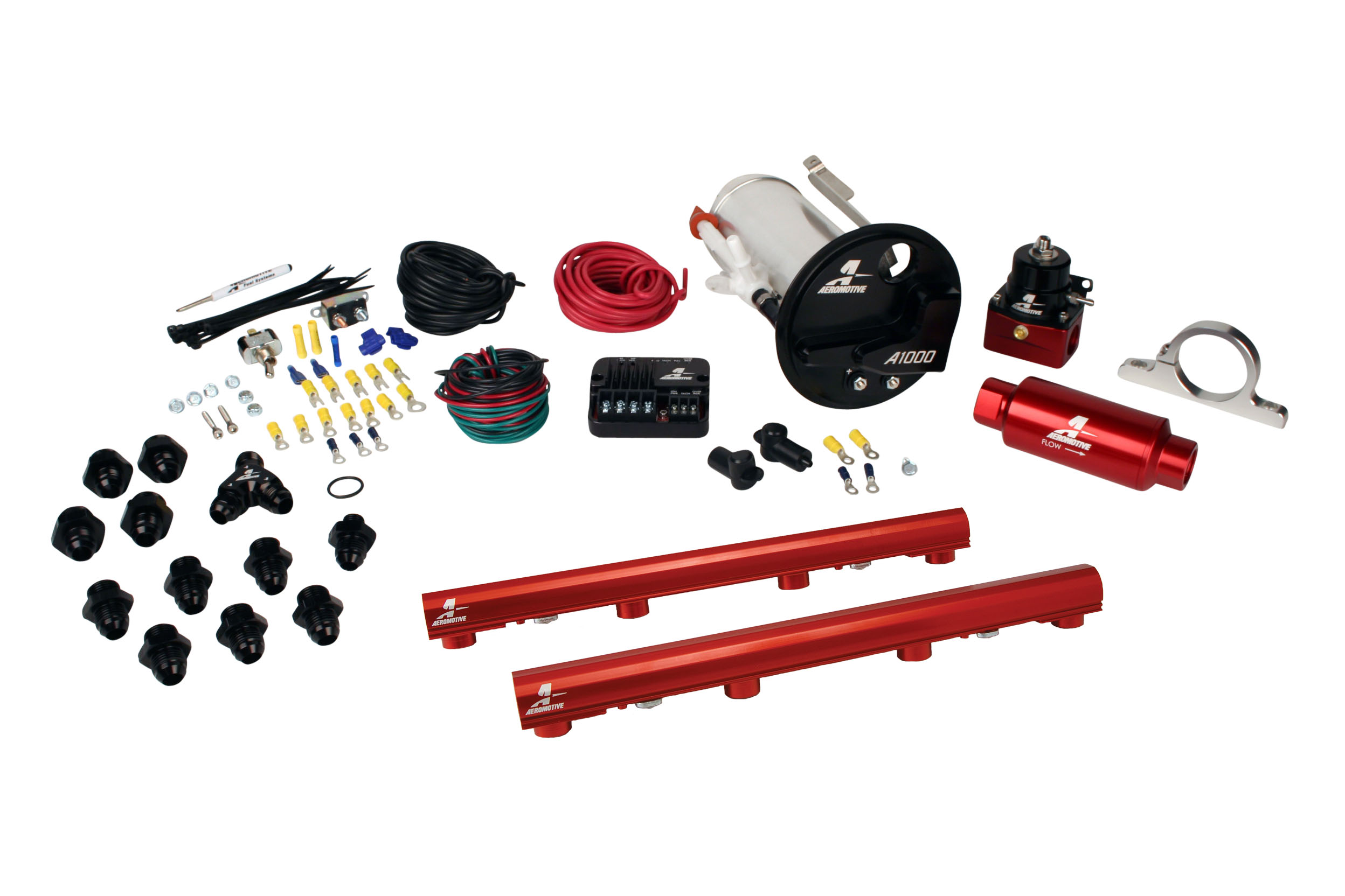 2007-2012 Ford Mustang Shelby GT500 Aeromotive Stealth A1000 Street Fuel System w/4.6L 3-V Fuel Rails