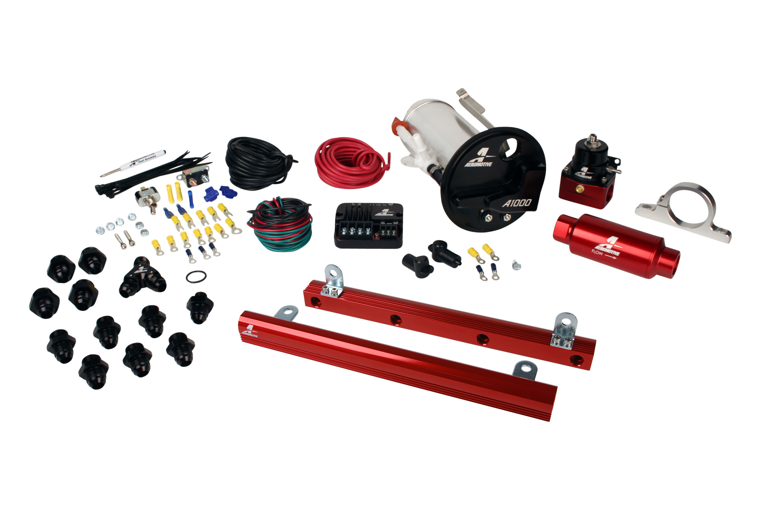 2007-2012 Ford Mustang Shelby GT500 Aeromotive Stealth A1000 Street Fuel System w/5.4L CJ Fuel Rails