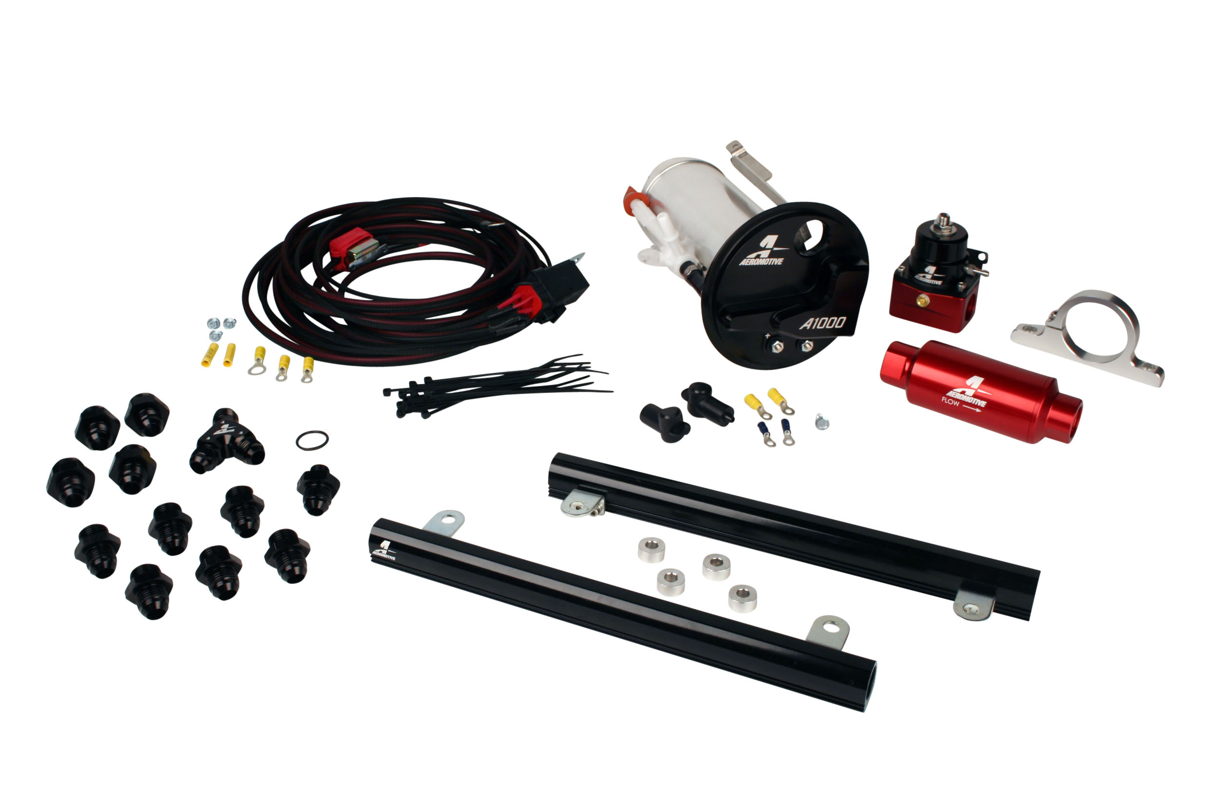 2007-2012 Ford Mustang Shelby GT500 Aeromotive Stealth A1000 Race Fuel System w/5.4L CJ Fuel Rails