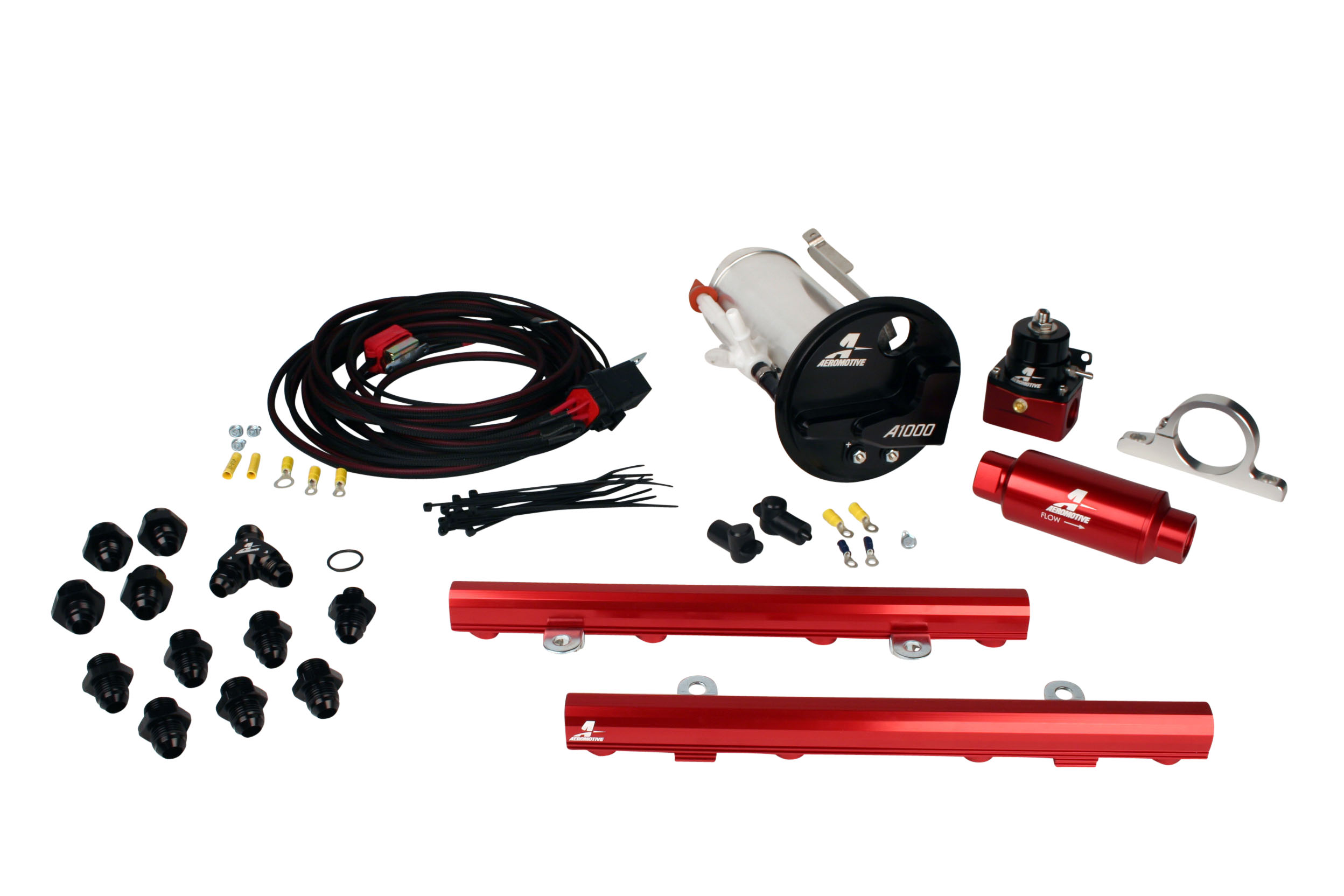 2007-2012 Ford Mustang Shelby GT500 Aeromotive Stealth A1000 Race Fuel System w/5.0L 4-V Fuel Rails