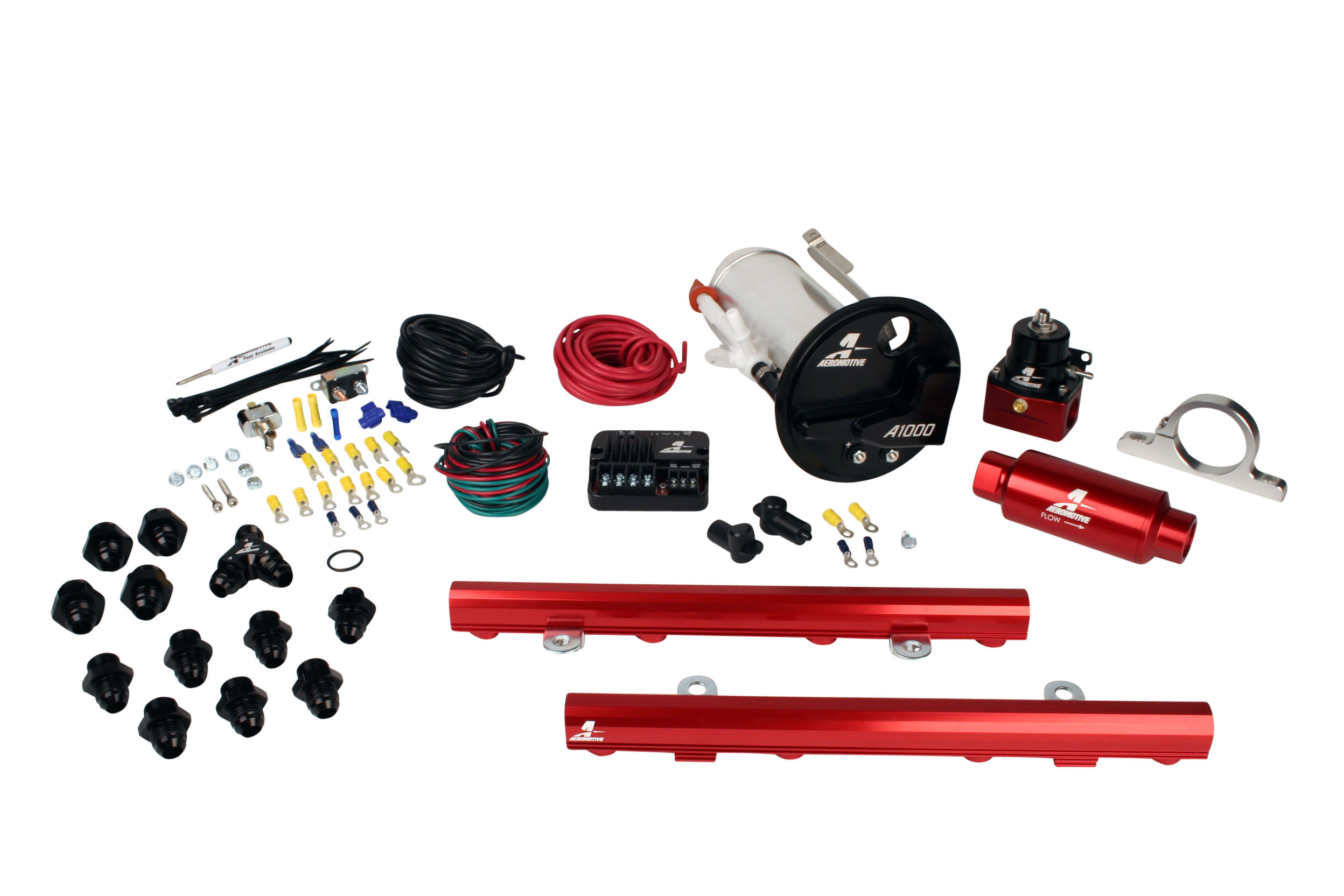 2007-2012 Ford Mustang Shelby GT500 Aeromotive Stealth A1000 Street Fuel System w/5.0L 4-V Fuel Rails