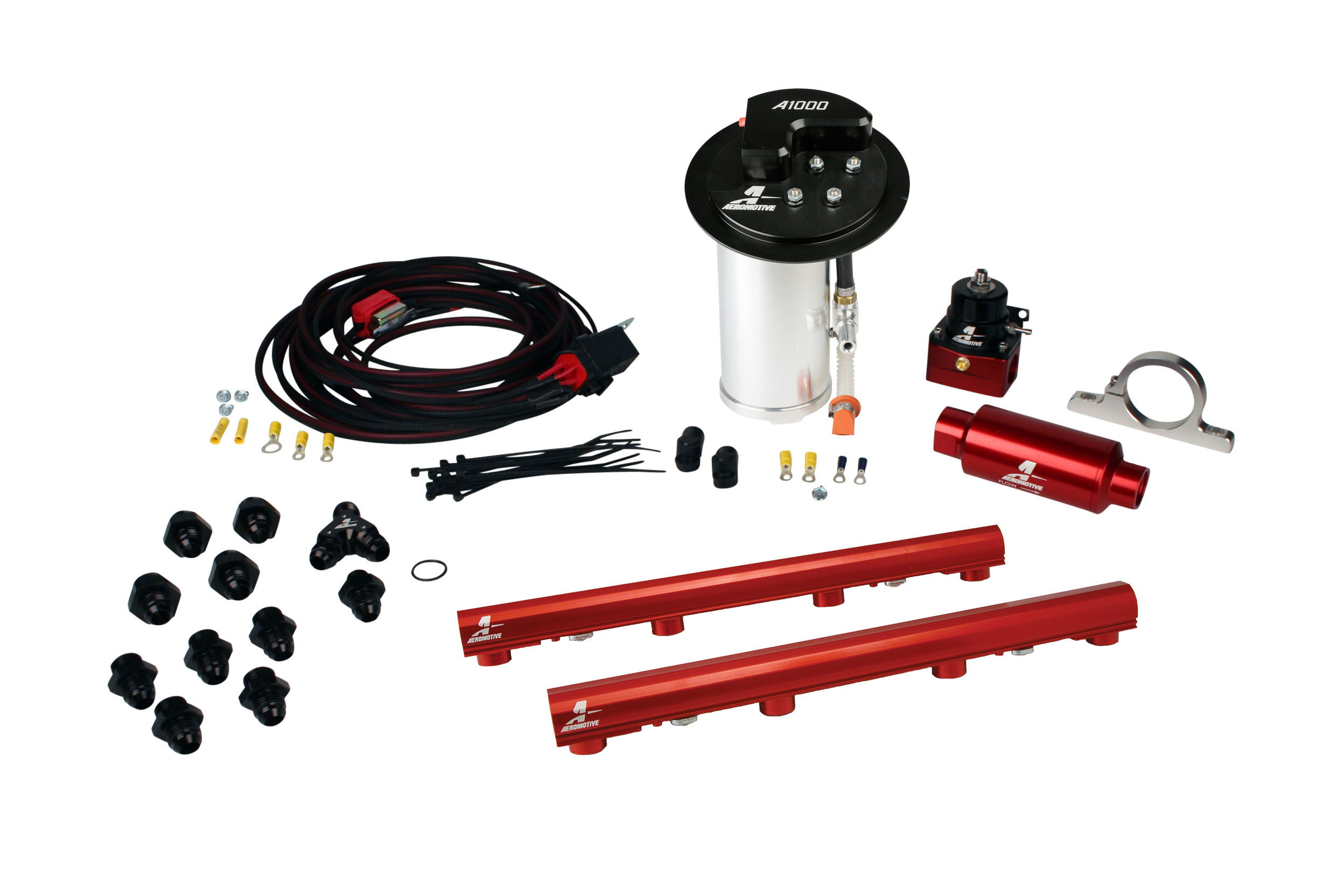 2010-2017 Ford Mustang GT Aeromotive Stealth A1000 Race Fuel System w/4.6L 3-Valve Fuel Rail